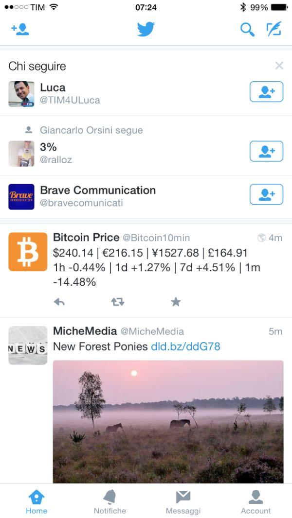 Twitter suggerisce chi seguire