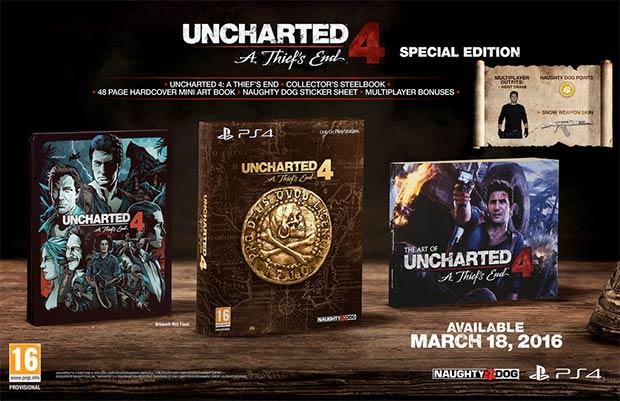 I contenuti della Special Edition di Uncharted 4: Fine di un Ladro