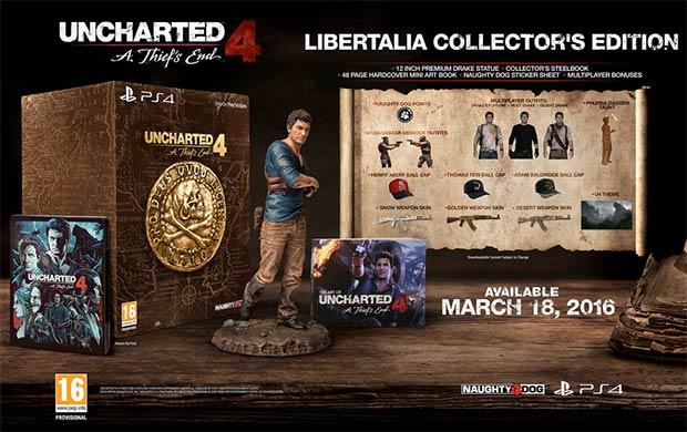 I contenuti della Collector's Edition di Uncharted 4: Fine di un Ladro