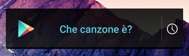 """Il widget """"Che canzone è?"""" di Android"""