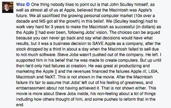 Commento di Steve Wozniak