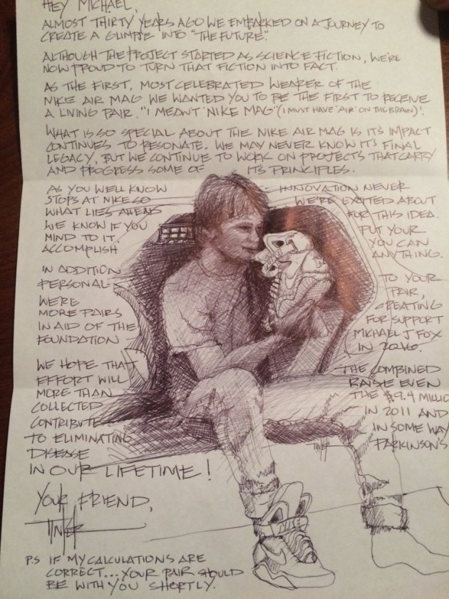 Lettera Nike a Michael J. Fox