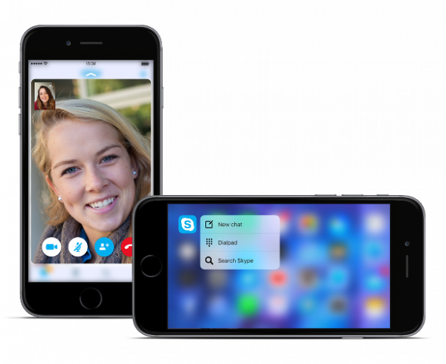 Skype per iPhone - 3D Touch