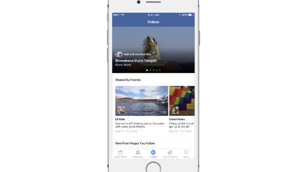 Facebook, arriva la sezione Video