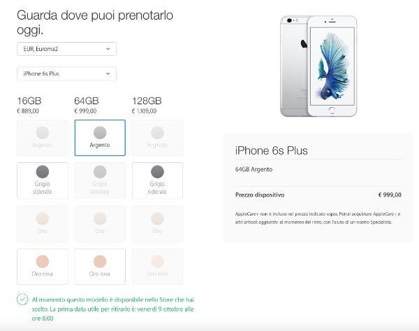 Apple: al via le prenotazione dei nuovi iPhone 6S