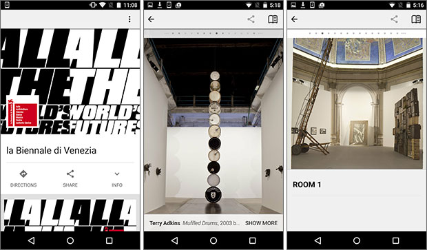 Screenshot per l'applicazione Biennale Arte 2015 disponibile su Android