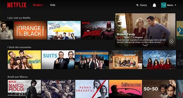 Catalogo di Netflix