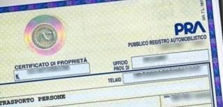 certificato di proprietà delle automobili