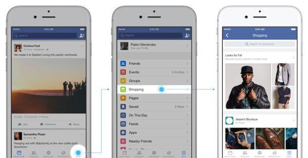 Facebook, arriva la sezione Shopping