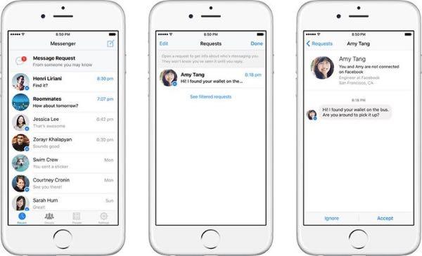 Facebook Messenger, adesso basta il nome
