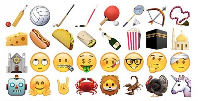 Alcune delle 150 nuove icone introdotte in iOS 9.1