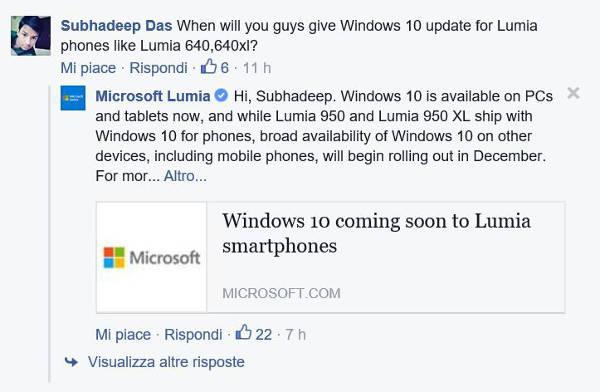 Windows 10 Mobile arriva a dicembre