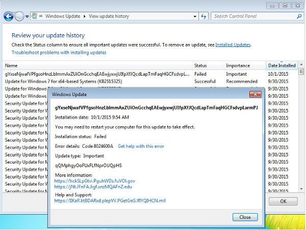 Windows Update, falso allarme cracker