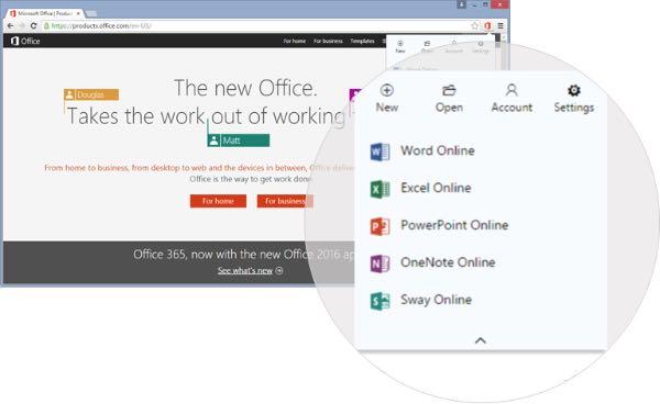 Estensione Office Online per Chrome
