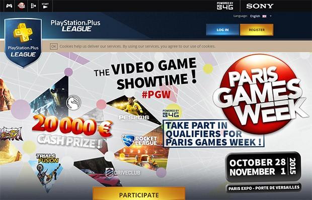 PlayStation Plus League: la homepage del sito ufficiale