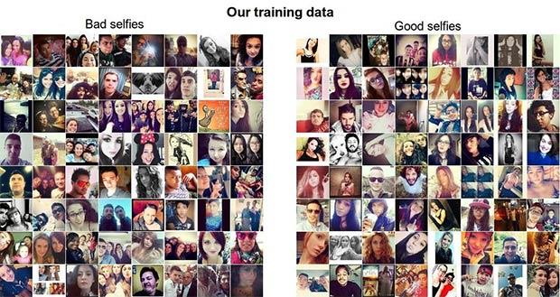 Selfie realizzati male e altri ben riusciti, secondo il sistema messo a punto da Andrej Karpathy