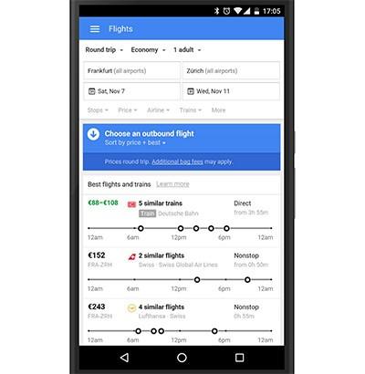 Lo strumento Google Ricerca Voli è accessibile anche da smartphone e tablet
