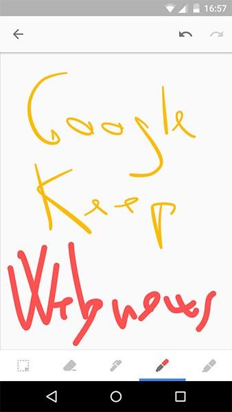 Test per la modalità Disegno introdotta nell'app di Google Keep