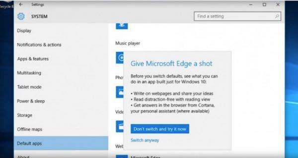 Windows 10, Microsoft non vuole che si usi Chrome