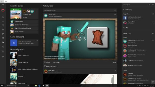 Windows 10, su Xbox Beta arriva Facebook