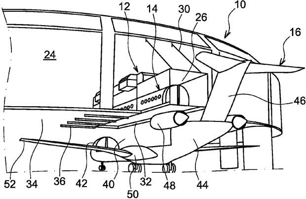 Un'immagine dal nuovo brevetto Airbus