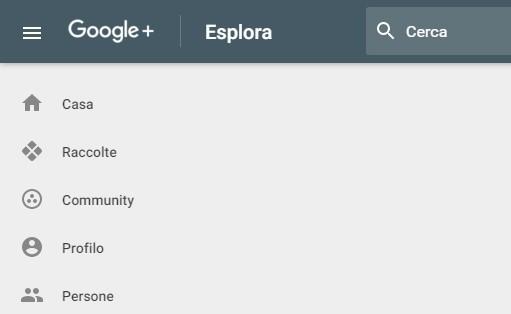 La nuova interfaccia di Google+