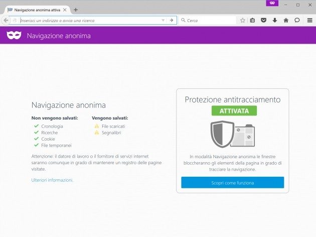 Firefox 42 - Tracking Protection