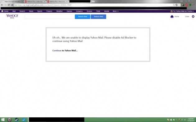 Yahoo Mail ad-blocker