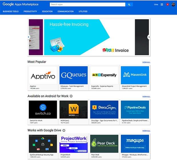 La nuova organizzazione delle app sulla piattaforma Google Apps Marketplace