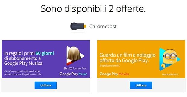 Le offerte di Google per chi possiede un Chromecast
