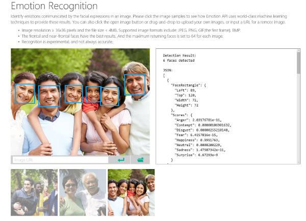 Microsoft riconosce le emozioni delle persone