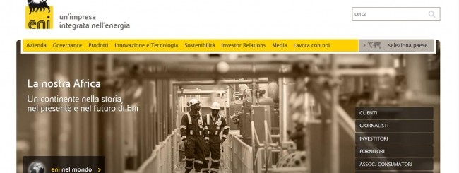 eni home page