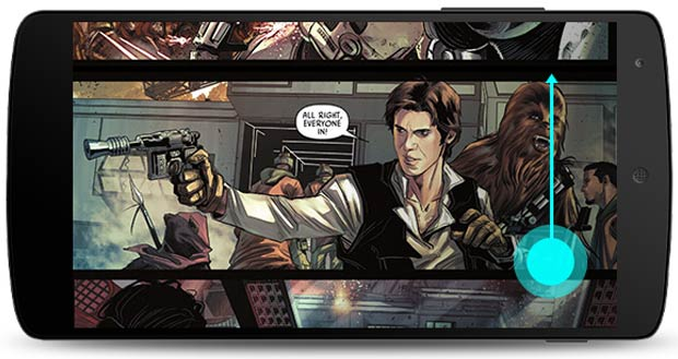 "Il nuovo scrolling verticale dei fumetti sull'app Google Play Libri (con ""Star Wars: Journey to Star Wars: The Force Awakens - Shattered Empire"")"
