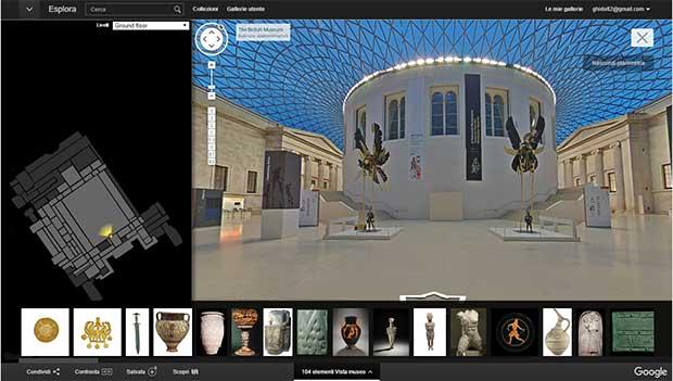 Le sale del British Museum su Google Cultural Institute, visitabili con la tecnologia di Street View