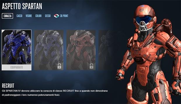 L'editor per la creazione del soldato Spartan da stampare in 3D