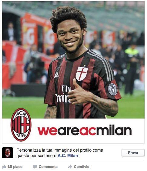 Facebook fa un regalo ai tifosi del Milan