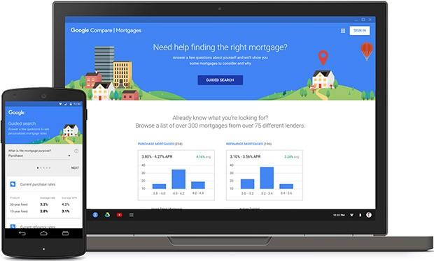 Il nuovo strumento Compare US Mortgages di Google, per il confronto online dei mutui