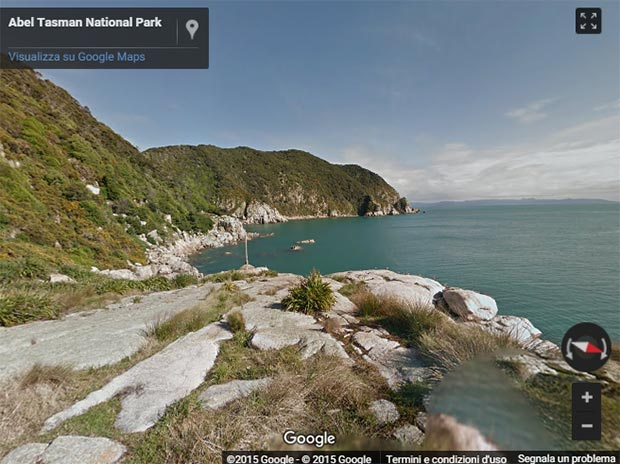 Uno scorcio delle Great Walks neozelandesi. su Google Street View
