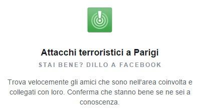 Facebook Safety Check per gli attacchi terroristici di Parigi