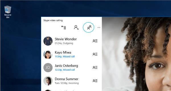 Windows 10, Skype: videochiamare