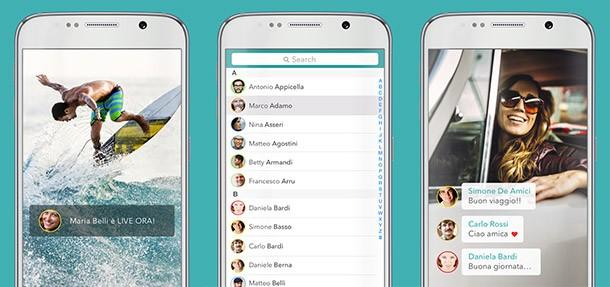 Screenshot per l'applicazione Streamago su smartphone Android