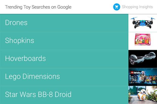 I droni sono i giochi più cercati su Google, seguiti dai Shopkins