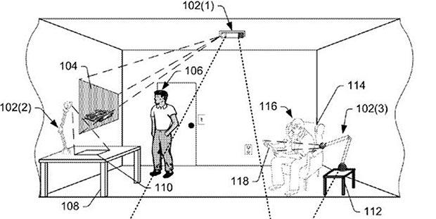 """Il brevetto """"Reflector-based depth mapping"""" di Amazon"""
