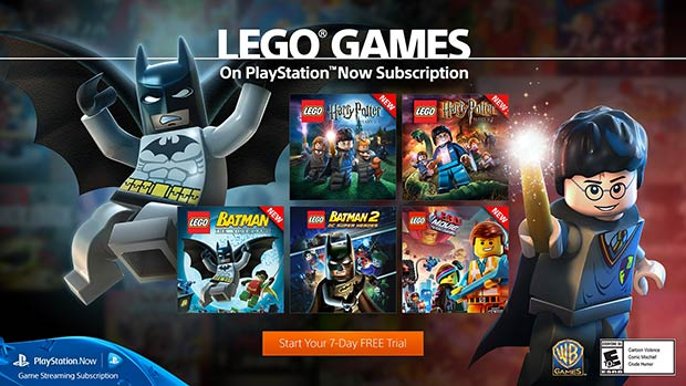 I titoli delle serie LEGO Harry Potter e LEGO Batman su PlayStation Now