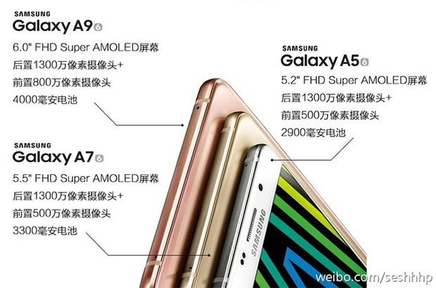 Una delle immagini che svela il nuovo Samsung Galaxy A9