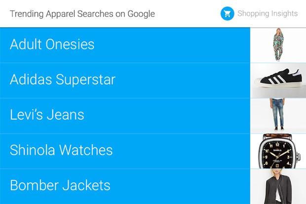 Per quanto riguarda l'abbigliamento, spopolano le tute per adulti, seguite dalle scarpe Adidas Superstar