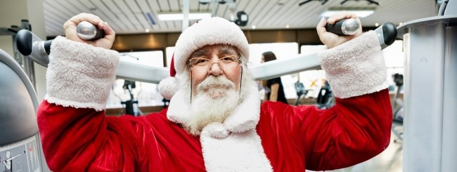 Babbo Natale fitness