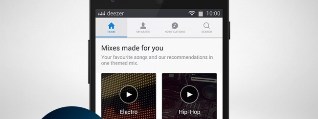 Deezer per Android