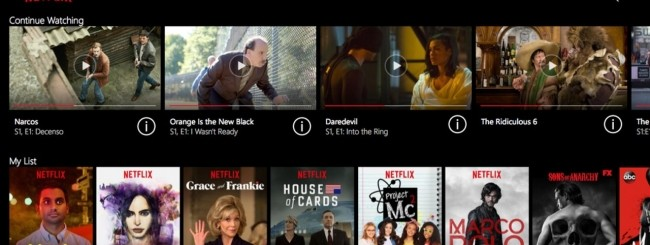 Netflix per Windows 10
