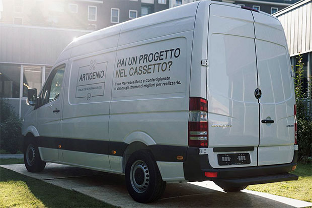 Il progetto Artigenio nasce dalla collaborazione tra Mercedes-Benz Vans e Confartigianato